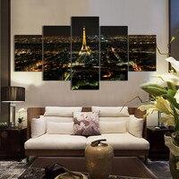 2017 Rushed Kostenloser Versand 5 stücke Eiffelturm Öl Gedruckt Auf Leinwand Dekorative Kunst Bild Günstige Anstriche
