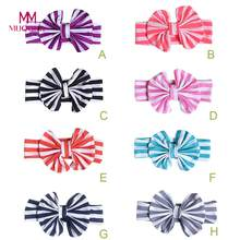 MUQGEW Hot Sale Toddler Baby Elastic Bowknot Headbands Hair Infant Girls Stripe Headbands Baby Head Bands Baby Hair Accessories(China)