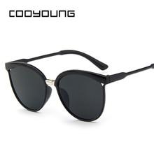 COOYOUNG Cat Eye Sunglasses Women Brand Designer Fashion Coating Mirror Sexy Cat