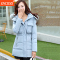 Women coat Winter 2016 New Fashion Plus size Lady Jackets Fur Hooded collar Parkas coats Slim Female Cotton-padded outwear M72