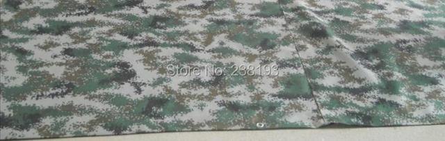 Personalizado 400g/sqr tamanho 6 m x 4 m camuflagem lona impermeável, encerado militar, cobertura de pano de camuflagem impermeável ao ar livre.