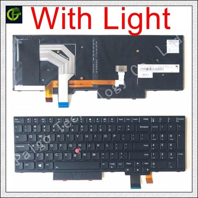 English podświetlana klawiatura dla Lenovo Thinkpad T570 T580 P51S P52S 20L9 20LA 01EN928 01EN958 01ER500 SN20M07877 01HX219 01HX259 z nami