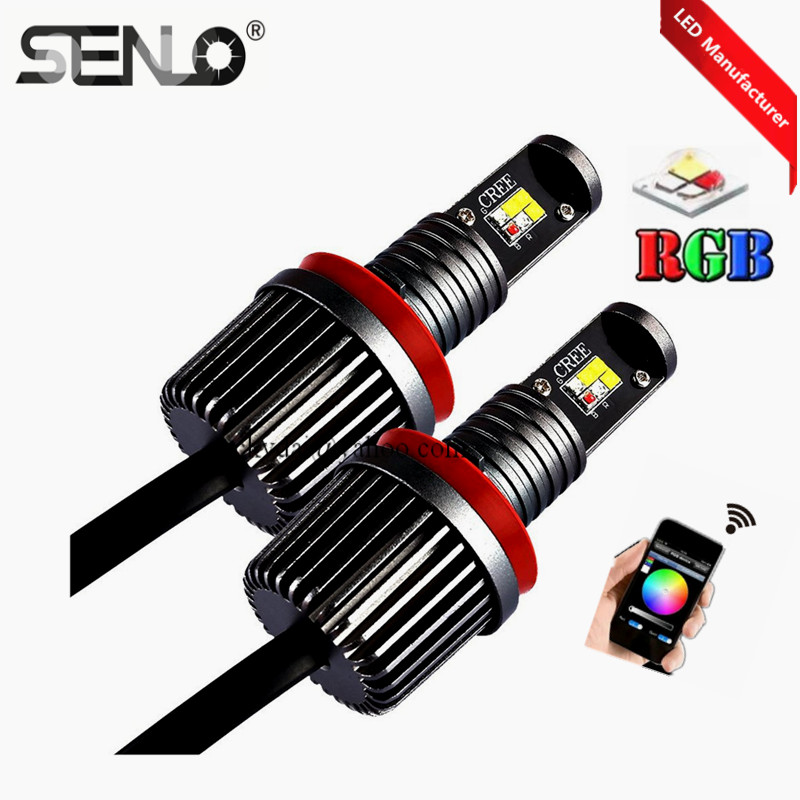 No error Multi-colors wifi rgb LED marker e92 angel eye 30w RGBW for bmw e92 h8 X5 E70 X6 E71 E90 E91 M3 E60 2pcs pair 24 led license plate led light lamp white 6000k error free for bmw e39 m5 e70 e71 x5 x6 e60 m5 e90 e92 e93 m3 525i