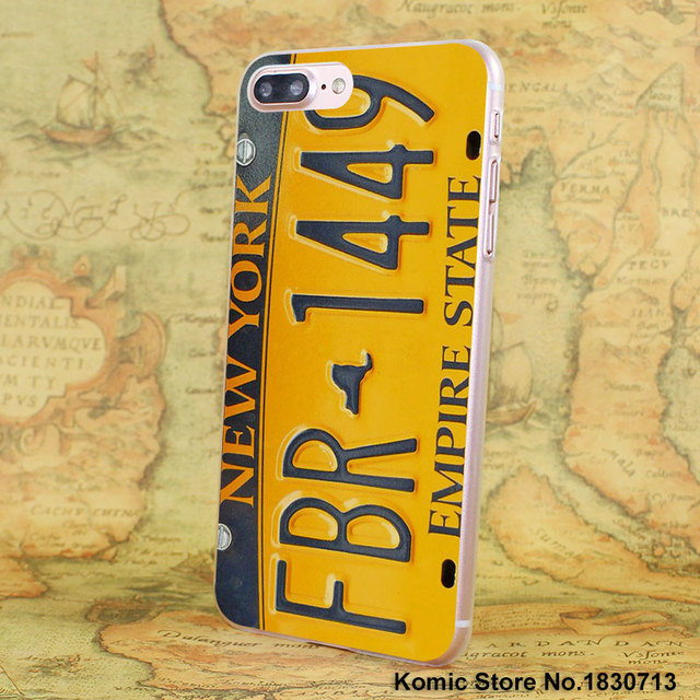 Clear License Plate Cases for all iPhones