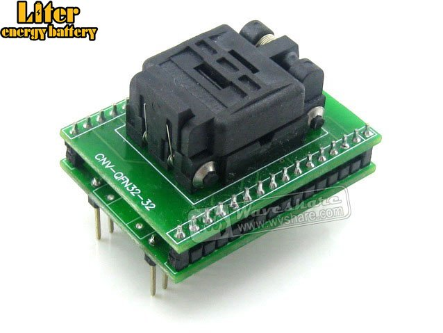 QFN32 TO DIP32 IC Test Socket Programming Adapter QFN32 MLF32 MLP32 Package Plastronics 32QN50S15050 Socket 0.5mm Pitch