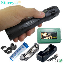 The latest version Super Bright XML-T6S 4000LM LED Torch Zoomable LED Flashlight 18650 battery Charger bike holder box