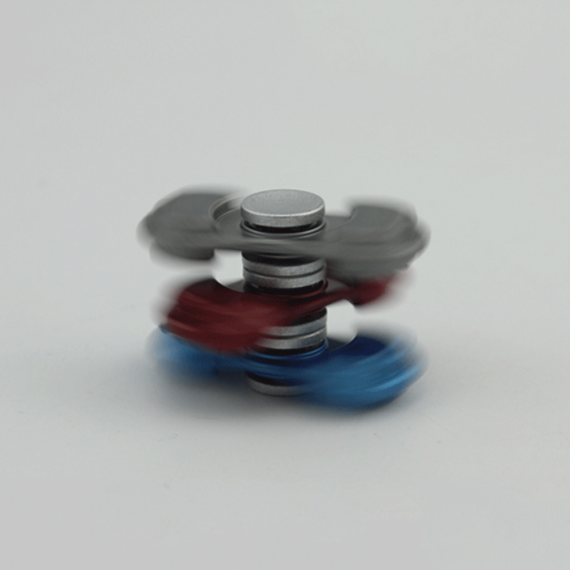 2017 Tri-Spinner Fidget Toy Alloy EDC Hand Spinner For Autism and ADHD Rotation Time Long Anti Stress Kids Toys Hobbies