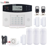 SmartYIBA Wireless SMS SIM Card Burglar Alarm Home Security GSM Alarm System Kit Intelligent LED Display Voice Prompt Auto Dial