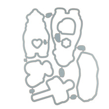 North pole bear Transparent clear Stamp / matched Metal Cutting Die for DIY Scrapbooking / Card Making/Photo Album Decoration(China)