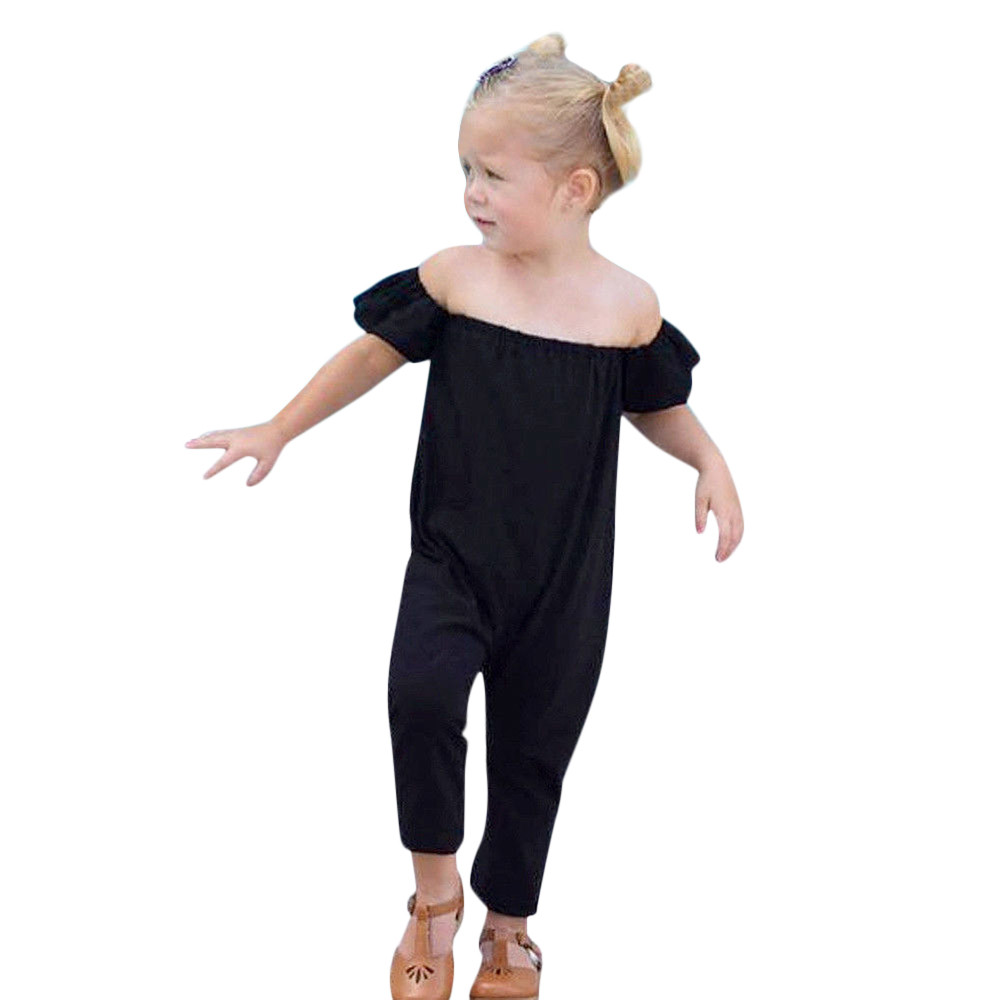 Newborn Baby Girls Solid Off Shoulder Solid Rompe Playsuit Clothes Outfits Clothes Kids clothing New Summer #30