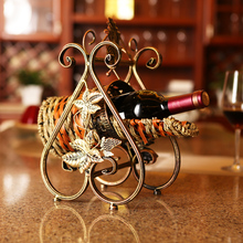 Fashion  personalized stainless steel wine love frame decoration metal wine rack wrought iron