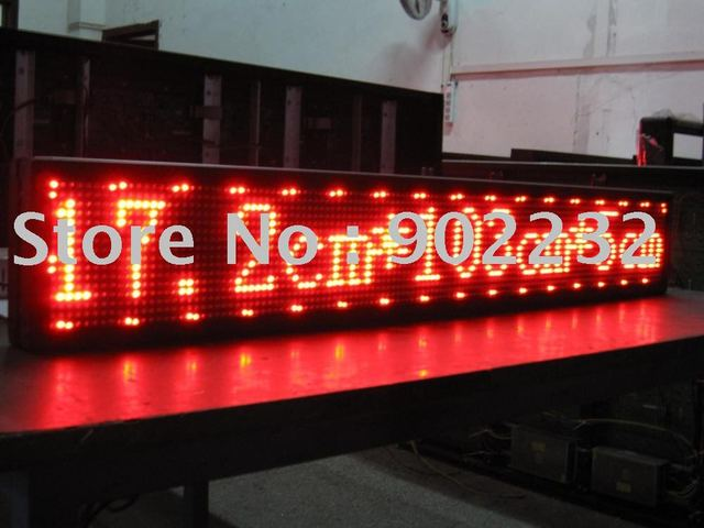Free ship,led scrolling sign,semi-outdoor,super deals,fast shipping,1pcs sell,16*128pixles,p7.62mm, LED LAMPS,RED led screen