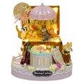 Кукольный Дом Мебель Diy Миниатюрный Пылезащитный Чехол 3D Деревянный Кукольный Домик Miniaturas Детей Подарки На День Рождения Ремесло Конфеты Кошка Y006