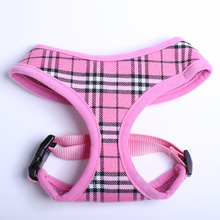 Dog Cat Plaid Control Harness Pet puppy harness Soft Mesh Walk Collar 3 sizes