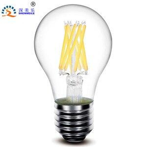 1pcs RXR A19 A60 E26 E27 2w 4w 6w 8w 360Degree Glass Clear Edison retro LED filament lamps bulb light 220V 110V AC CE(China)