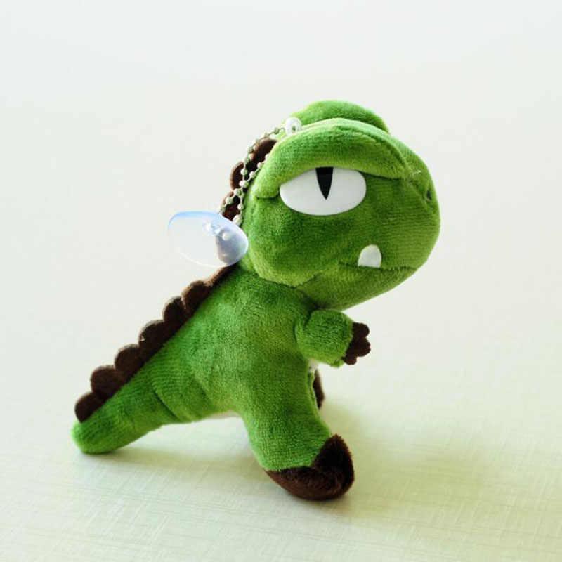 Novo Mini 10*8*5 Cm, bonito Tyrannosaurus Tyrannosaurus Keychain Do Luxuoso do Brinquedo Da Novidade 2018 Kawaii Anime Dragão Keychain Brinquedo Macio Boneca