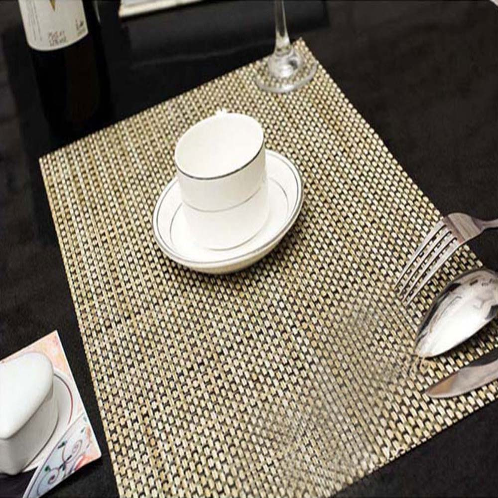 Modern restaurant table setting - 4 Pieces Set 45x30cm High Quality Pvc Insulation Placemats Bar Restaurant Grid Modern Europe Table