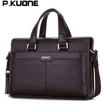 Men shoulder messenger bag men's genuine leather Business briefcase, man bag for 15.6' laptop computer 2018 male handbag 1