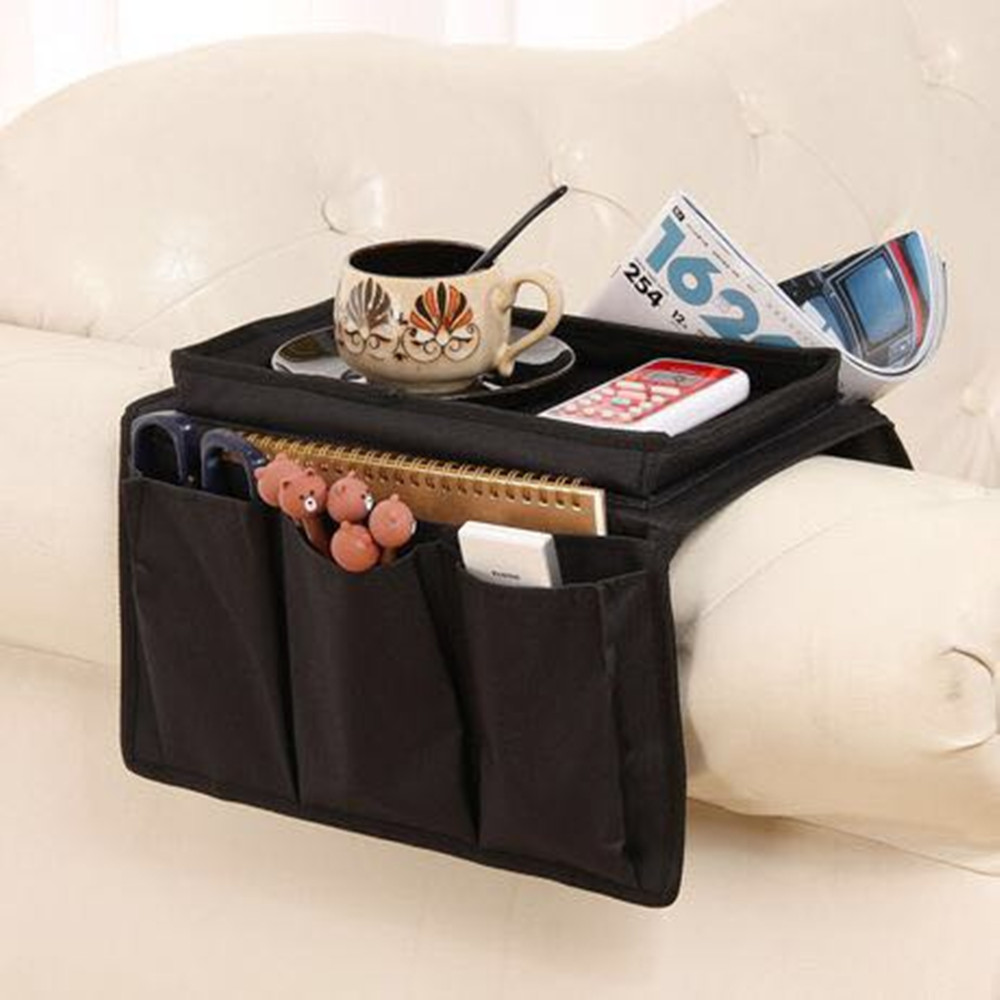 Sofa Arm Organizer Tray Us 12 85 Sofa Armrest Organizer Couch Storage Bag With Cup Holder Tray Tv Remote Control Caddy In Home Office Storage From Home Garden On