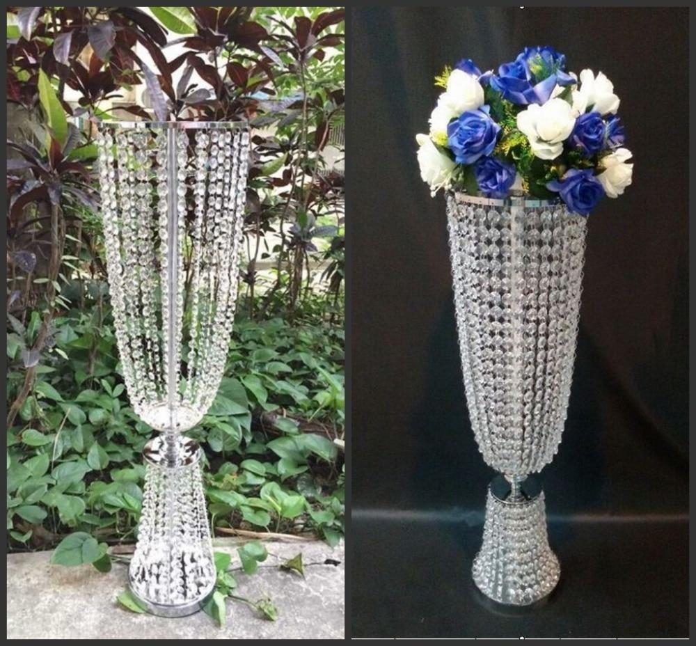 Wedding Flower Vases Wholesale: Wholesale I Tall And Large111 Iron Crystal Plated Vase
