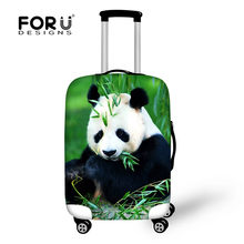FORUDESIGNS Stretch Waterdichte Bagage Cover om 18-28 Pak Case Kawaii Panda Print Koffer Beschermende Covers Travel Accessoires(China)