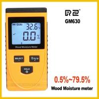 RZ EMT01 Inductive Wood Moisture Meter Hygrometer Digital Electrical Ambient Temperature Tester Measuring Tool GM630