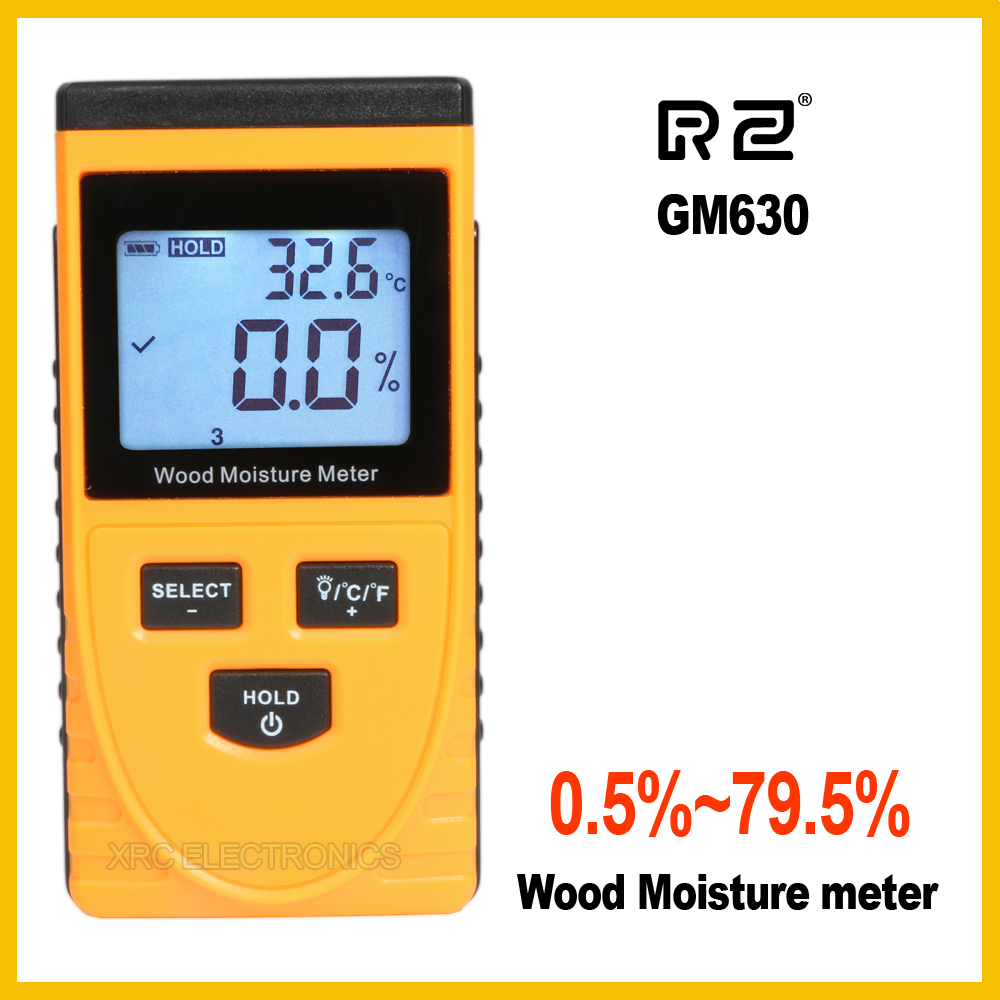 RZ EMT01 Inductive Wood Moisture Meter Hygrometer Digital Electrical Ambient Temperature Tester Measuring tool GM630