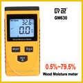 RZ EMT01 inductivo de madera higrómetro medidor de humedad eléctricos digitales de temperatura ambiente de herramienta de medición GM630
