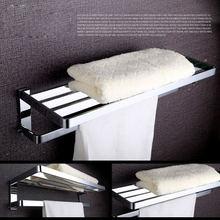 Роскошная хромированная Полка для полотенец в ванную комнату