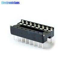 Prises DIP IC noires à 16 broches, 50 pièces, adaptateur de Type soudure