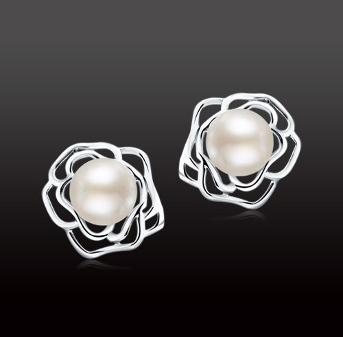 Freshwater Pearl Stud Earrings Real Pearl Earrings Natural Pearl Earrings For Charm Women