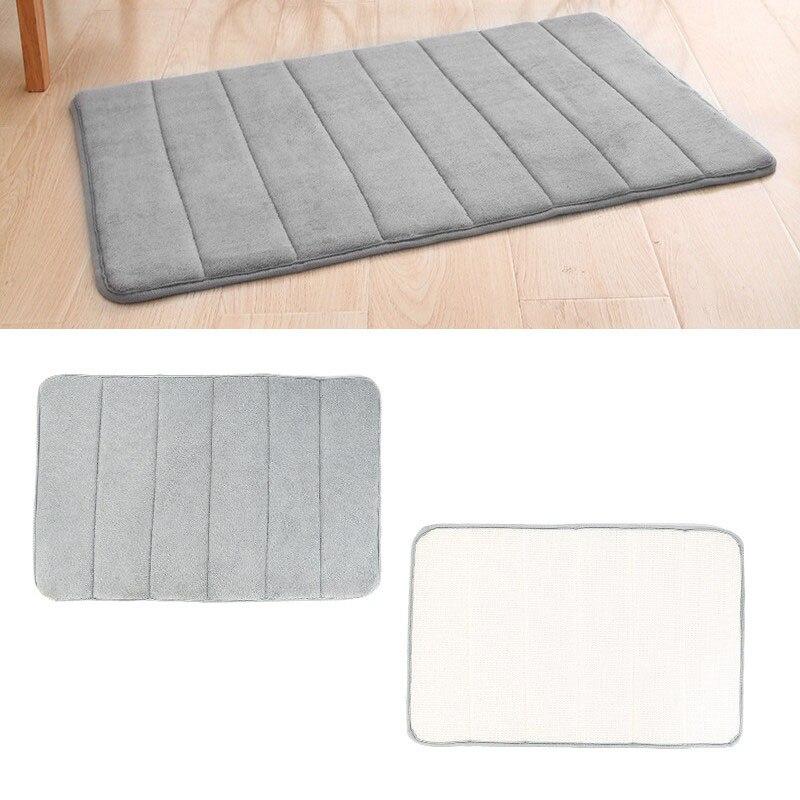VOGVIGO Thick Coral Fleece Carpet Bath Mat Bathroom Water Absorption Rug Kitchen Absorbent Non-slip