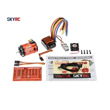 SkyRC 13.5T 2590KV 2P Sensored Brushless Motor+CS60 60A Sensored Brushless ESC+LED Program Card Combo Set for 1/10 1/12 RC Car