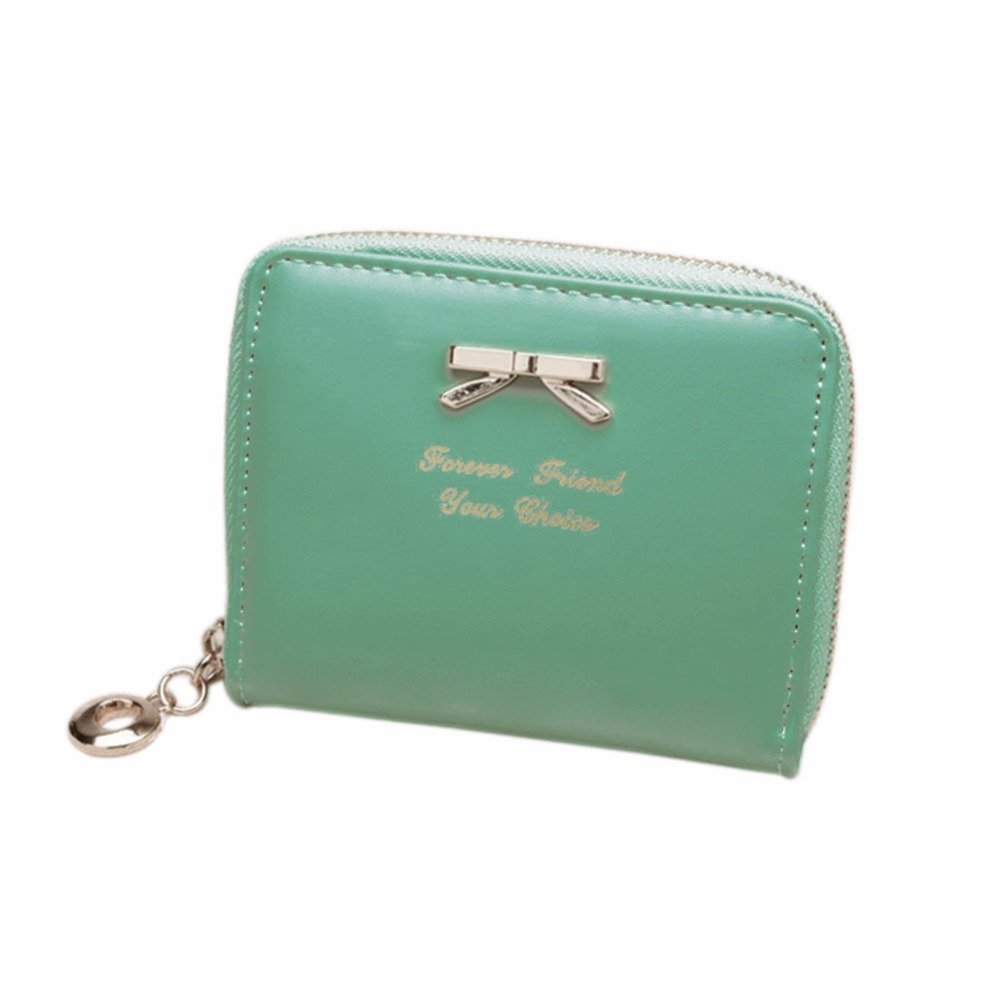 Lovely Candy Color Purse Clutch Women Wallets Short Small Bag PU Leather Card Hold BS88