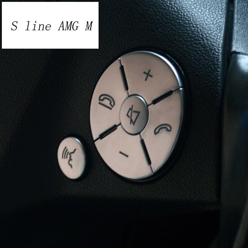 Voiture style volant boutons couverture autocollants garniture pour Mercedes Benz C E R S classe W204 W212 GLK X204 CLS GL SLK accessoires