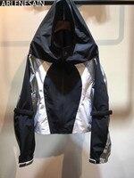 Arlenesain пользовательские 2018 лето модная куртка Женская Лоскутная куртка пальто