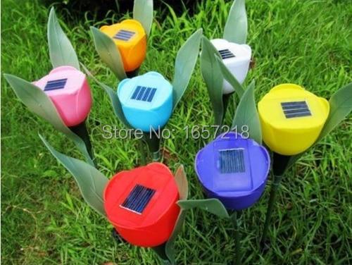 Solarlampen Vorsichtig 4 Teile/los Led Tulip Außen Yard Garden Path Way Solar Power Led Tulip Landschaft Leuchtet Kostenloser Versand & Drop Verschiffen Sparen Sie 50-70%