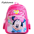 2017 new Mickey Kindergarten children cartoon school backpack boys and girls lovely cartoon schoolbag children backpacks GJ101