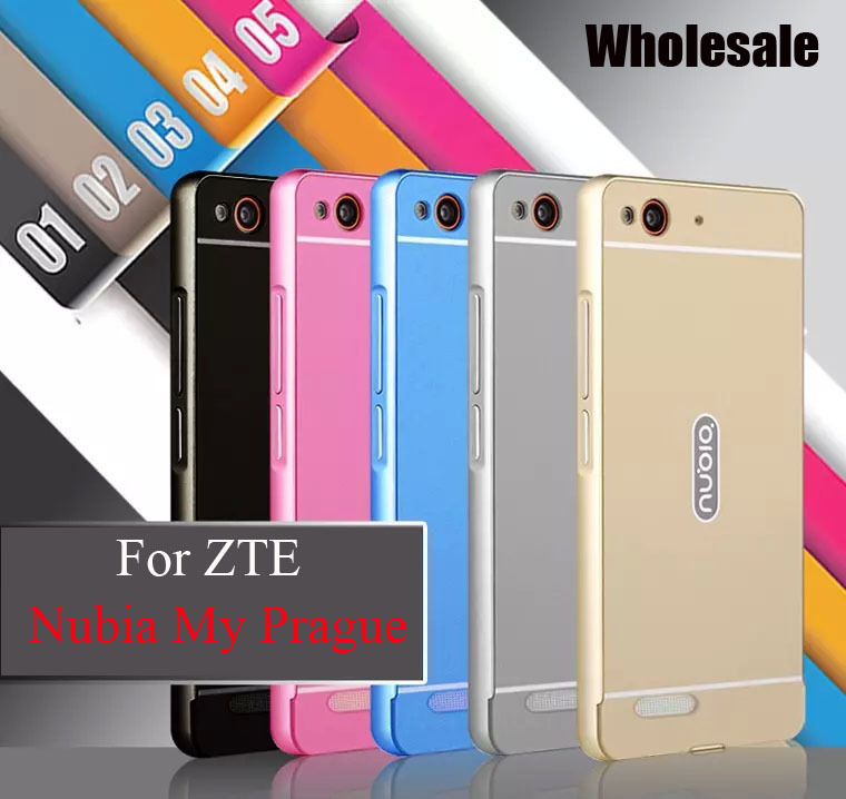 2 ultrathin Metal frame +pc backplane 2in1 mobile phone protection case cover ZTE Nubia Prague - Chinese electronic city store