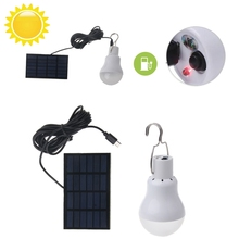 YAM 15W 130lm New Solar light Panel Powered LED Light Bulb Portable Lamp Outdoor Hiking Camping