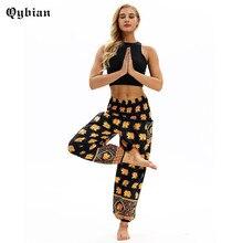 Qyiban Golden elephant 3D Printed Thailand Yuga Pants Tighten Waist Sporting Tro