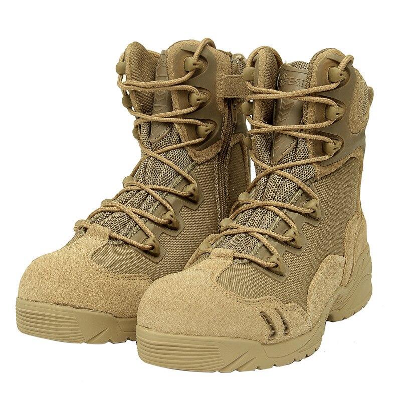 Nouvelle amérique Sport armée hommes bottes tactiques désert en plein air randonnée en cuir bottes militaires passionnés Marine mâle chaussure de Combat hommes