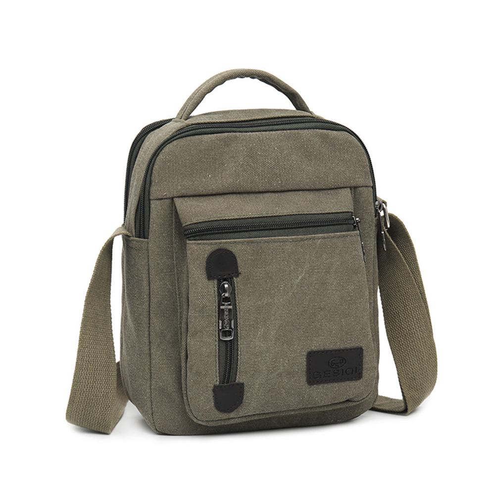 Mens Bag Messenger-Bags Canvas Business-Shoulder Solid-Color Casual Fashion And for Sacoche title=
