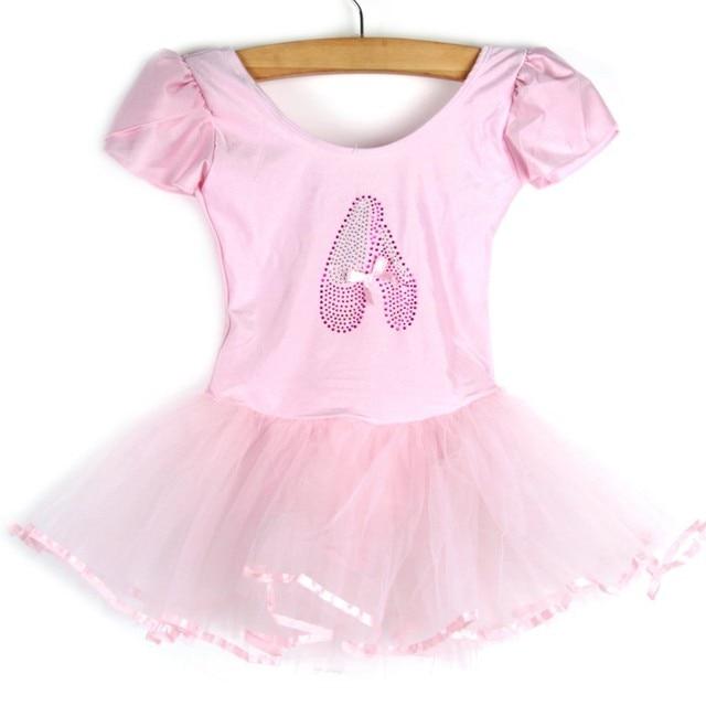 Meninas Crianças Vestido da Dança Do Bebê Doce Cor Tutu Vestido da Dança Trajes Dancewear Ballet 3-7Y Bebê Roupas YRD