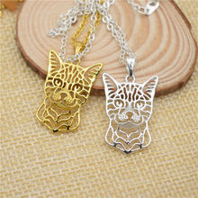 LPHZQH fashion cute Boho Chi hollow Bengal Cat pendant necklace Women charm choker necklace Collares Jewelry Christmas gift