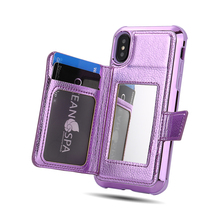 De moda chica espejo de casos para iphone 7 7 Plus 6 6 s Plus Flip cartera cubierta iphone X XS X Max XR casos de teléfono Fundas