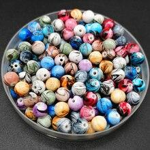 8 мм-20 мм круглые бусины для изготовления ювелирных изделий Акриловые бусины разноцветные свободные бусины ювелирные изделия DIY Аксессуары# YKL36-42