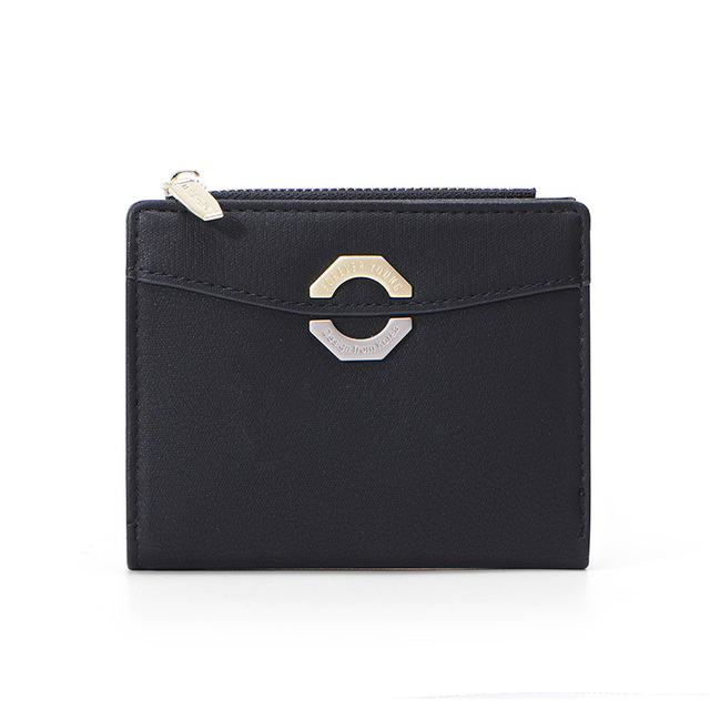 15af46c08a10 US $3.0 |2019 Leather Small Wallet Women with Card Holder Zipper Coin Purse  Ladies Wallet Female Purses Girl Short Carteira NEW Design-in Wallets from  ...