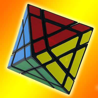 QJ Octahedral magic cube black and white free air mail