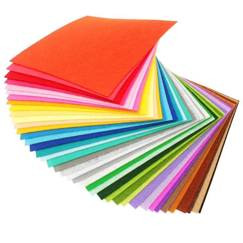 40 шт./лот высокое качество смешивания цветов Нетканая фетр ткань мм 1 мм Толщина полиэстер войлочная ткань DIY комплект для Вышивание куклы ремесла